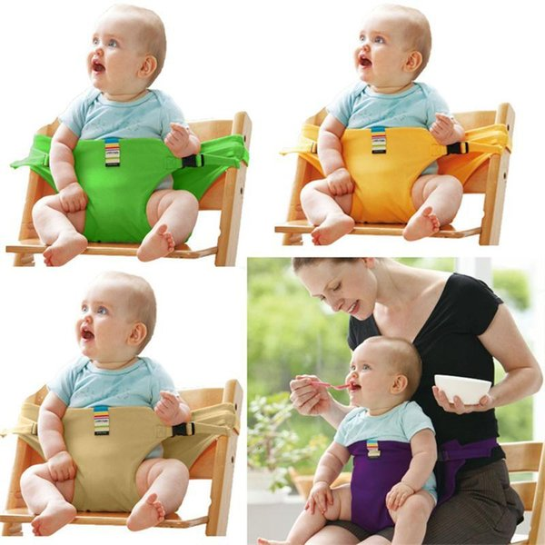 best selling Kids Chair Booster stretch wrap Portable Infant Dining Lunch Safety Belt baby Feeding Chair Harness baby feeding helper
