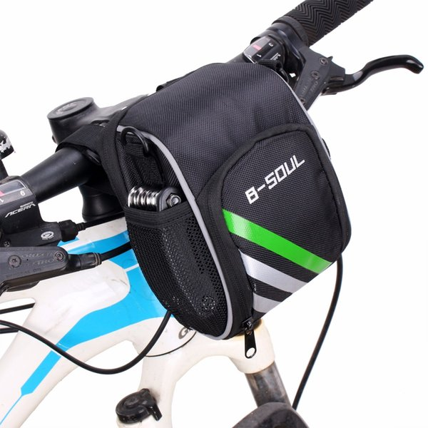 top popular 2021 New Bicycle Bags Bike Cycling Outdoor Waterproof Polyeste Front Basket Pannier Frame Tube Handlebar Bag Black include strap 2021