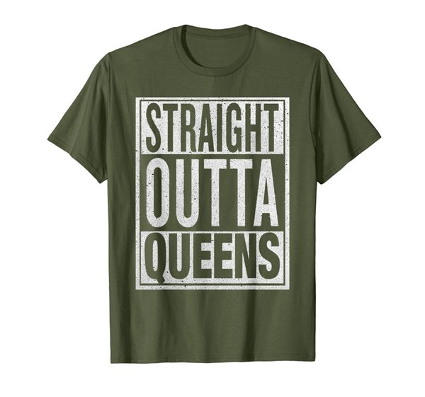 Straight Outta Queens T-Shirt Funny USA Travler Gift Idea