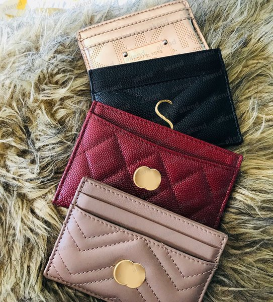 best selling luxury Designer Top quality Card Holder Genuine Leather Marmont G purse Fashion Y Womens men Purses Mens Key Ring Credit Coin Mini Wallet Bag Charm Brown Canvas