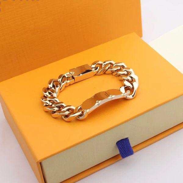 top popular Designer High Quality Silver Love Bracelet Men Women Gold Bracelets Chain Fashion Personality Hip-hop 2021