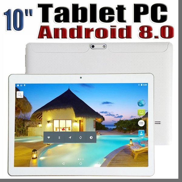 """top popular 168D 10 Inch 10"""" Tablet PC MTK66580 Octa Core Android 8.0 4GB 64GB Phable IPS Screen GPS 3G phone E-9PB 2021"""