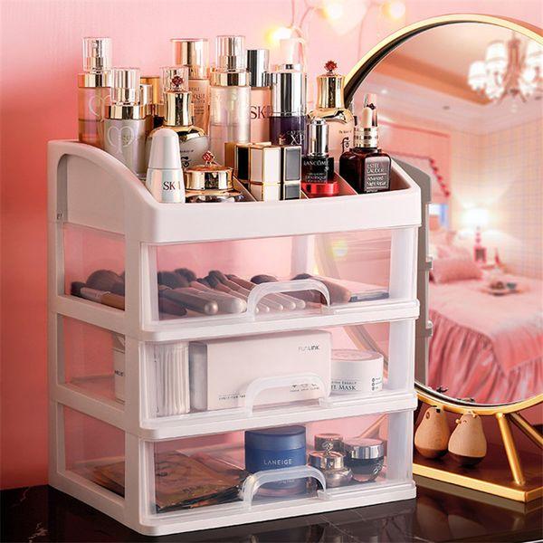 Plastic Double-layer Cosmetic Storage Box Desktop Storage Box Drawer Office Makeup Lipstick Organizer Bathroom Organizer Rack