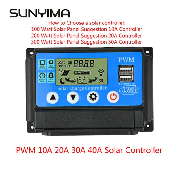 Wholesale 12v battery charge resale online - Batteries System ccessories SUNYIM V V Auto PWM Solar Charge Controller A A A A for Solar Panels Regulator Controller