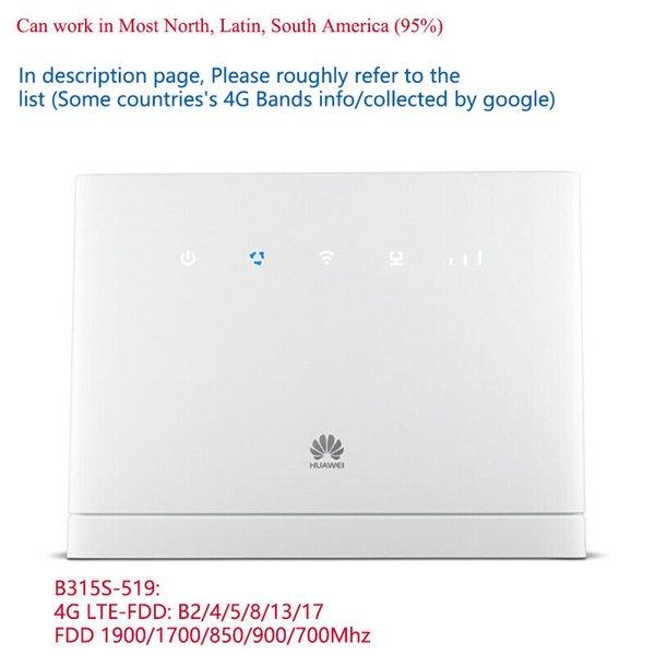top popular Unlocked Huawei B315s-519 4G CPE LTE WiFi Router Wireless Hotspot mobile Modem 2021