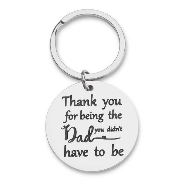 10Pieces/Lot Gifts for Him Step Dad Fathers Day Gifts Father In Law From Daughter Son Adoptive Parents Dad Keychain - Dad Gift - Papa Daddy