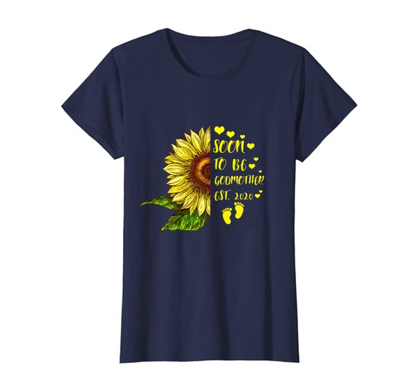 Womens Soon To Be Godmother Est 2020 Costume Baby Announcement Gift T-Shirt