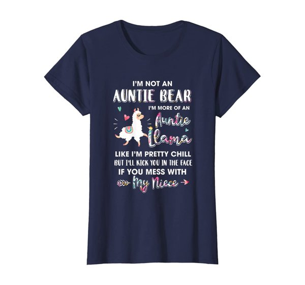 Womens Aunt Niece Im Not Auntie Bear Im More Of Auntie Llama Shirt