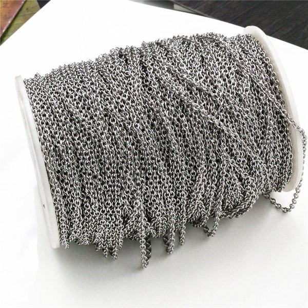 5 Meters/Lot Never Fade Stainless Steel Cross Necklace Chains Bulk For DIY Jewelry Findings Making Materials Handmade Supplies Brand NameWadsfred OriginCN(Origin) Item Weight10g Jewelry Findings TypeChains Item Width0.2cm Materiallead free and nickel free Metals TypeStainless Steel Item Diameter0.3cm Model Numberchain