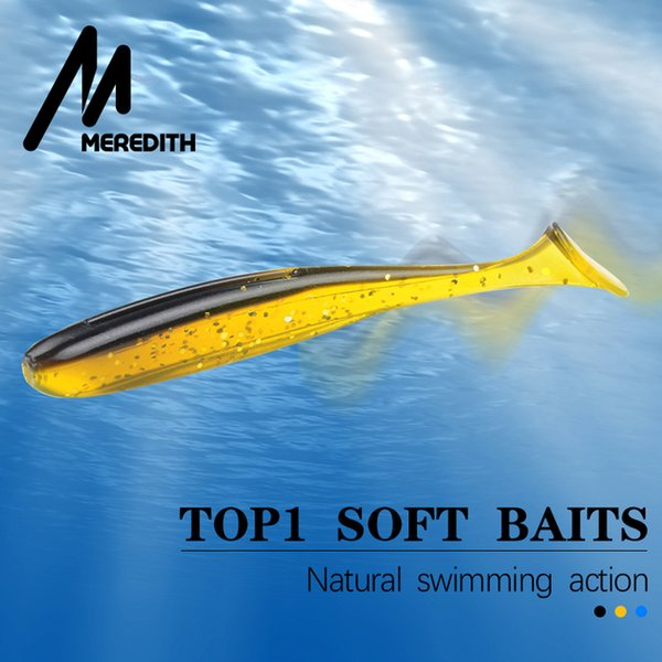 heap Fishing Lures Meredith 75mm 2.4g 20/pcs Wobblers Fishing Lures Easy Shiner Swimbaits Silicone Soft Bait Double Color Carp Artificial...