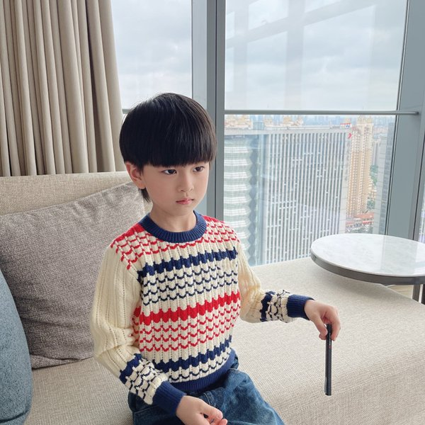 top popular winter kids boys girls sweater tops children boy pullover knitted sweaters fashion baby warm jumper clothes 2021