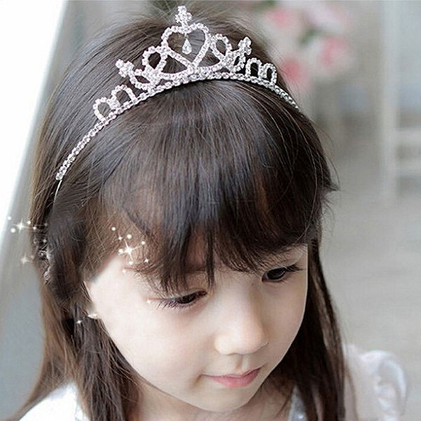 Lovely Girls Bridal Princess Prom Crown Bridal Crown Crystal Rhinestone Tiara Hair Band Hoop Headband Hair Band Accessories