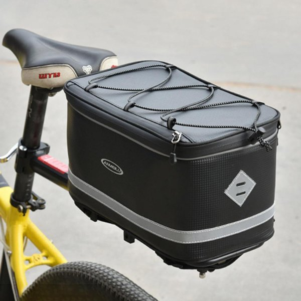best selling 12inch Large Capacity Bike Saddle Rack Trunk Bag Bicycle Bags Cycling Back Seat Panniers Riding Waterproof Luggage Carrier Box