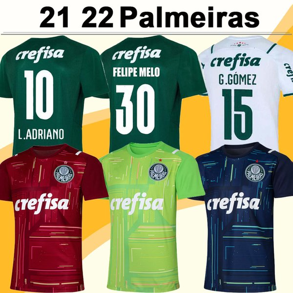 21 22 Palmeiras Mens Soccer Jerseys G. GOMEZ L. ADRIANO RAMIREZ B. HENRIQUE WILLIAN Home Away Goalkeeper Football Shirt Short Sleeve Uniform