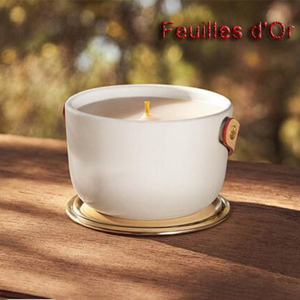 best selling Scented Candle Bougie 220g Brand Parfum Candles Long Smell Perfumed Fragrance Wax Dehors II Neige Feuilles lle Blanche L'Air du Jardin Fast Ship