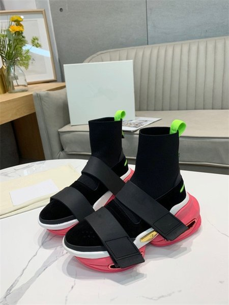 Quality Socks Shoes Stretch Speed Trainer Casual Shoes Black Shock Absorption Men Woman Speed Mid-top Trainer Sneakers