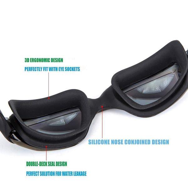 best selling Myopia Swimming Goggles Ear Plug Anti Fog Optical Men Women Professional Prescription Swim Pool Eyewear Natacion Diving Glasses