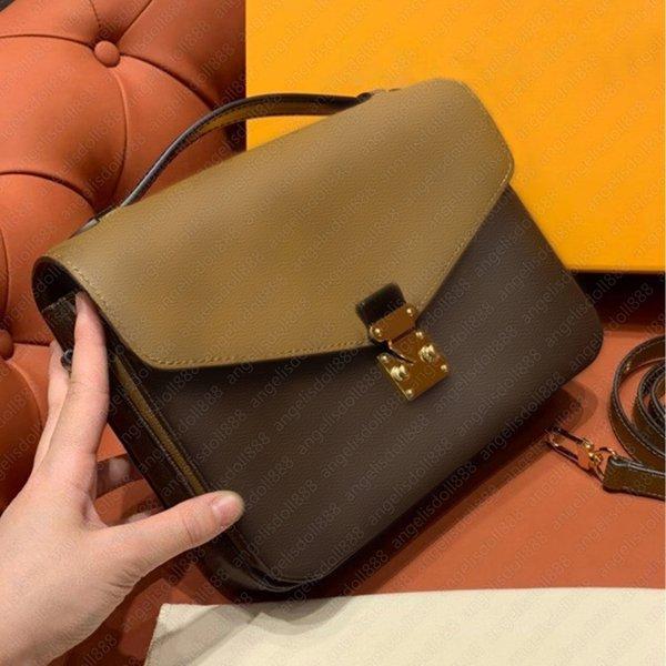 Designer handbag pochette met1s Split messenger bag M44876 classic flowers letters print top quality women cross body briefcase envelope shoulder bags