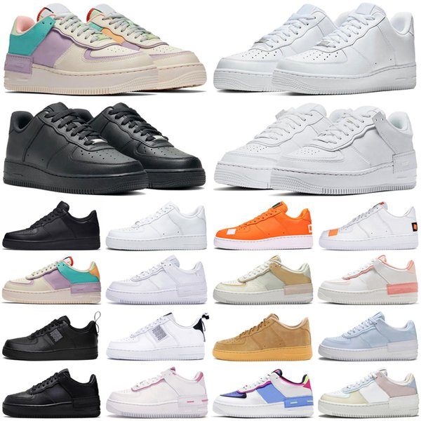 best selling 2021 shadow mens shoes men women dunk utility triple black white pale ivory trainers sports sneakers size 36-45
