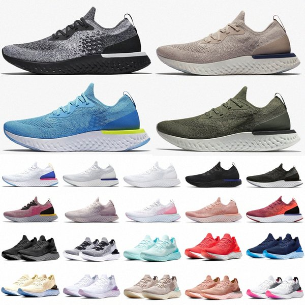 best selling Top Fashion EPIC REACT Fly Knit Shoes Men Women Slip On Running Shoe white black beige pink sports trainers designer sneakersjRIb#