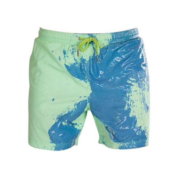 top popular Kids Boy Pants Children Discoloration Beach Pants Swimming Trunks Sense Discoloration Shorts Swimsuit Color Changing Swimwear 2021