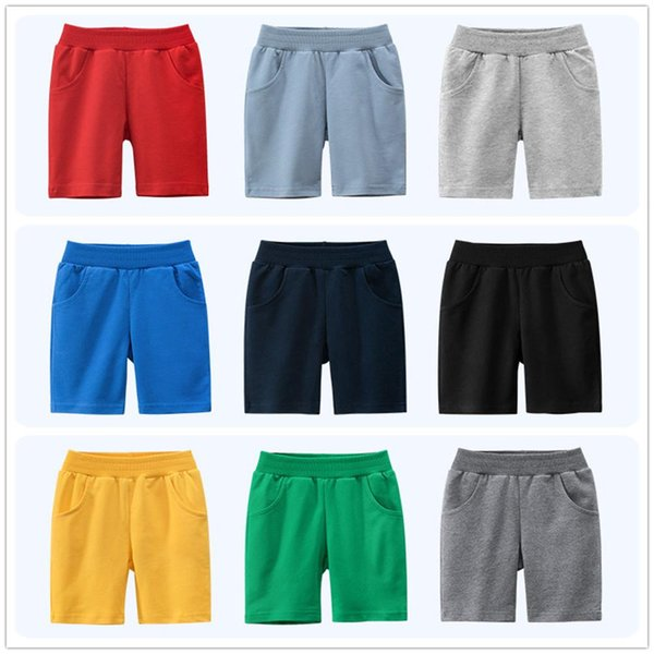 top popular 1-9 Years Children Boys Shorts Pants 100% Cotton Solid Color Sport Casual Knickers for Baby Boy Girl 2021