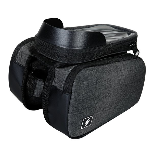 top popular Sahoo 122007 Touch Screen Bike 6.5in Cell Mobile Phone Bag Front Frame Top Tube Cycling Pouch Double Side Bicycle Pannier 2021