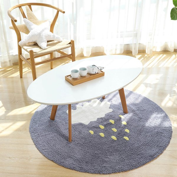 top popular Baby Infant Play Mats Kids Round Crawling Carpet Floor Rug Baby Bedding Blanket Cotton Play Game Pad Children Room Decorationr 2021