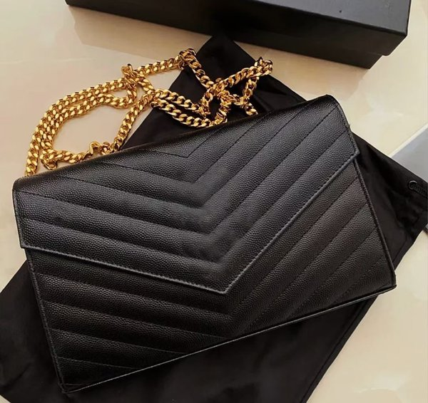 top popular 2021 Woman Bag Handbag Purse Genuine Leather High Quality Women Messenger Cross Body Chain Clutch Shoulder Bags Wallet Free Delivery 2021