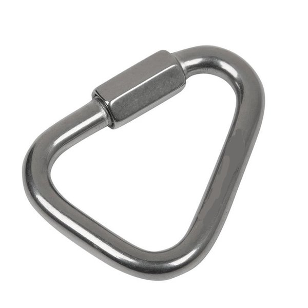 top popular Xinda 316 stainless steel triangle connecting ring Meilong lock Meilong lock triangle lock rock climbing equipment fast security 803 Z2 2021