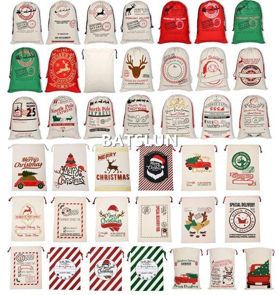 best selling Christmas Decorations For Home Storage Souvenir Bag Santa Sacks Cute Deer Ornament Navidad Family Stockings Candy Gifts Bag