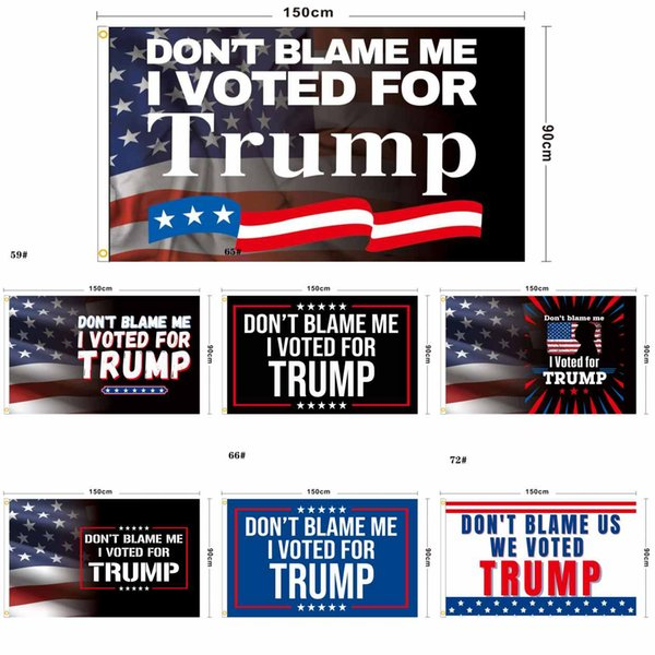 best selling Don't blame me I voted for trump 90*150cm Banner Flags Trump 2024 flag president Biden trump flags of election again great Polyester Y1806