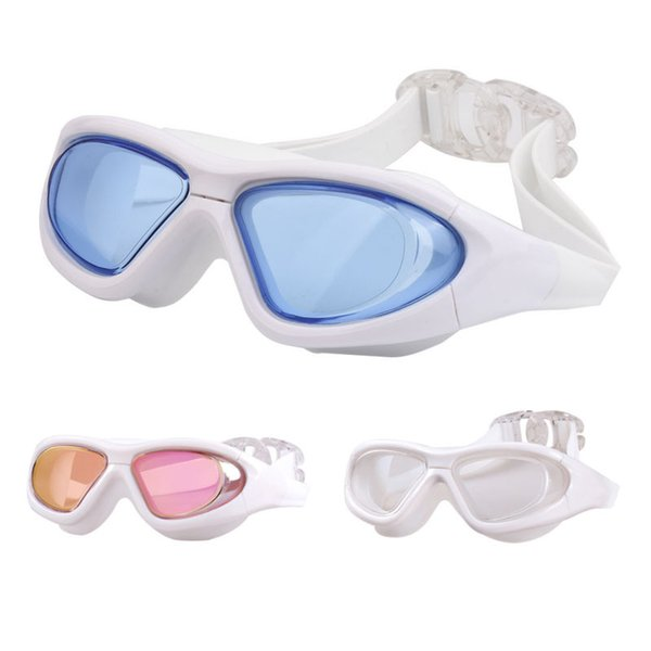 top popular Prescription Diving Glasses Myopia Adult Silicone Swimming Pool Goggles Optical Anti Fog Adjustable Waterproof Swim Eyewear 2021