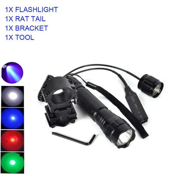 best selling Ultrafire 501B XPE-Q5 multi-color LED tactical flashlight pressure switch torch led 18650 flashlight lantern led luz flash light 201207