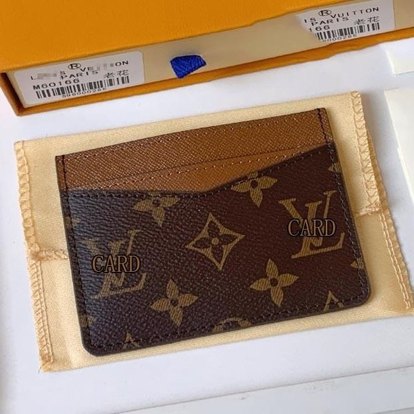 """best selling With BOX luxurys designers Men Business Card Holders Women Credit Purse Leather coin pouch key mini wallet LV""""LOUIS""""VITTON VUTTON"""