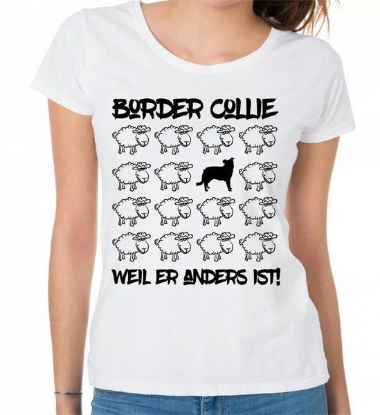 Border Collie Ladies T-Shirt Black Sheep by siviwonder Women Dog Dogs Fashion