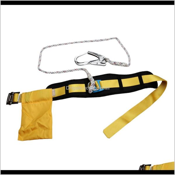top popular Harnesses Climbing Camping Hiking Sports & Outdoors Drop Delivery 2021 Outdoor Safety Lanyard Protection Equipment Aerial Construction Harnes 2021