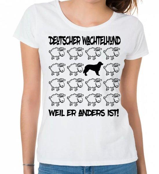 German Quail Dog Ladies T-Shirt Black Sheep Women Dog Dogs Quail