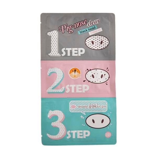 Свинья нос Маска Черноголовых Remover нос Маска трехступенчатый комплект глубоко моющее средство корейская косметика маска для лица лечение носа