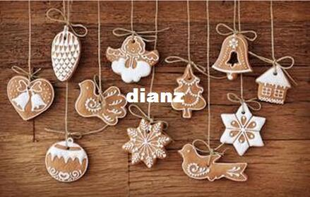 New 11 pcs/lot Hanging Ornament Snowflakes Decor Polymer Clay Drop Pendants Christmas Tree Baubles Decoration Enfeites Ornaments Set