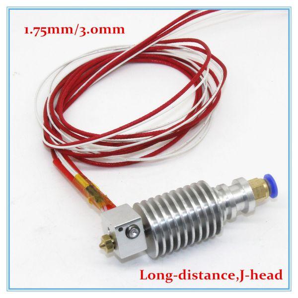 Wholesale-Long-distance, 3D Printer J-head Hotend for 1.75mm/3.0mm E3D Bowden Extruder 0.2mm/0.3mm/0.4mm Nozzle