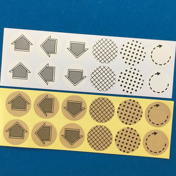 70111bffff2 500pcs Paper Sticker Labels 3cm Round Kraft Stickers mark Labels Packing  Self-Adhesive Sealing Label For Gift box cups cards