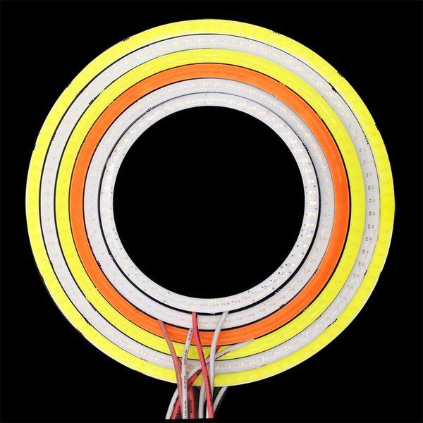 3 Вт-9 Вт Красный Синий Белый Розовый Ангел глаза светодиодные дневного света DRL COB лампа DC 12 В-24 В для DIY фары автомобиля декор лампы