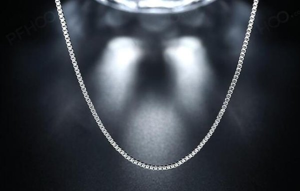 9edeebc74c970 2019 2018 New Fashion 925 Sterling Silver 1MM Box Chain Necklace  16/18/20/22/24 For Pendants From Charm_girls, &Price;   DHgate.Com