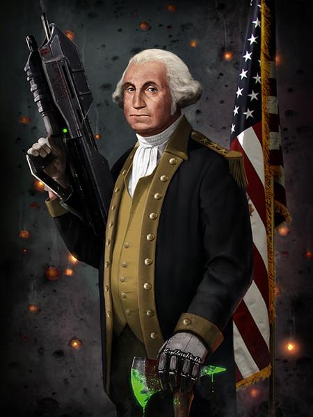 George Washington Fantasy Art