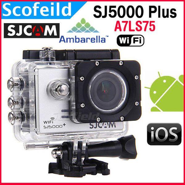 Original SJCAM SJ5000 Plus Ambarella A7LS75 14MP For GoPro SJ4000 1080P  60FPS WiFi Action Camera 1 5 Inch 170° Waterproof HD Camera Motorcycle  Helmet