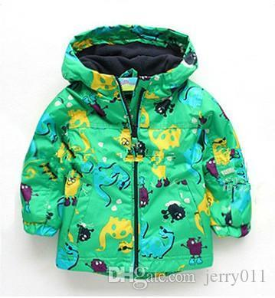 Retail Topolino style 2016 new arrival children coat kids jacket boys outerwear child dinosaur carton colourful