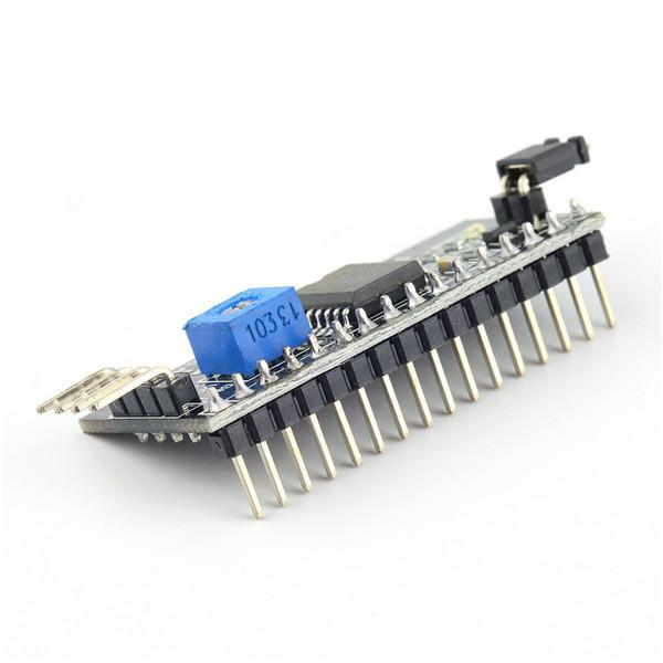 Arduino 1602 LCD Ekran için 1 adet Kurulu Modülü Bağlantı Noktası Ayarlanabilir Arabirim Modülü IIC / I2C / TWI / SPI Seri Yeni