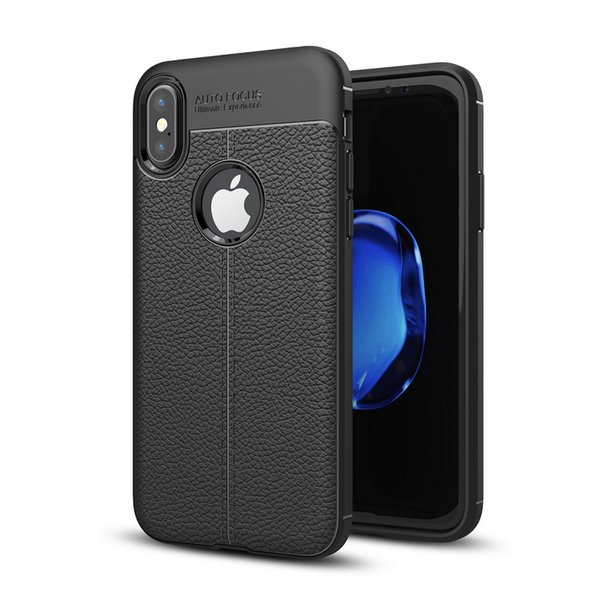Leather Slim Cellphone Case Mobile Phone Protective Cover Skin for iPhone 8 X Plus 7 6 High Quality