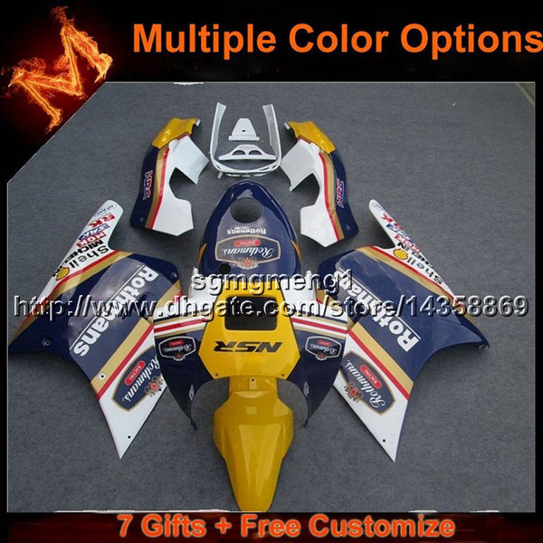 23colors+8Gifts WHITE YELLOW Bodywork motorcycle cowl For Honda NSR250 MC18 1988-1989 MC18 88 89 ABS Plastic Fairing